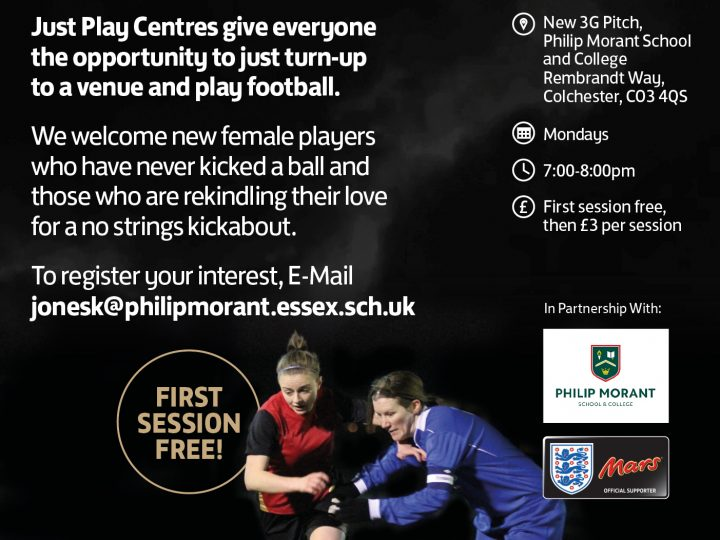 Female only football – Monday evenings
